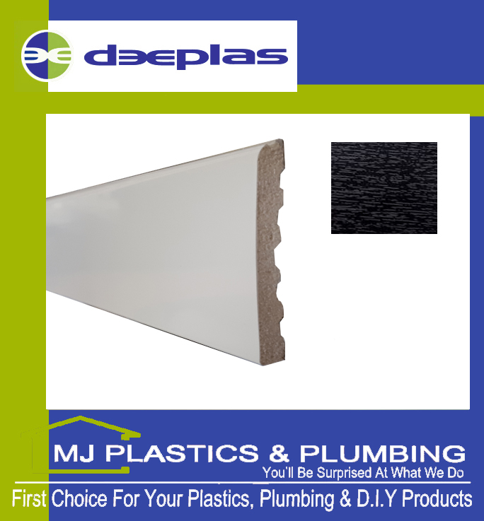 Deeplas Castellated Architrave 90mm x 6mm - Black Ash 1012