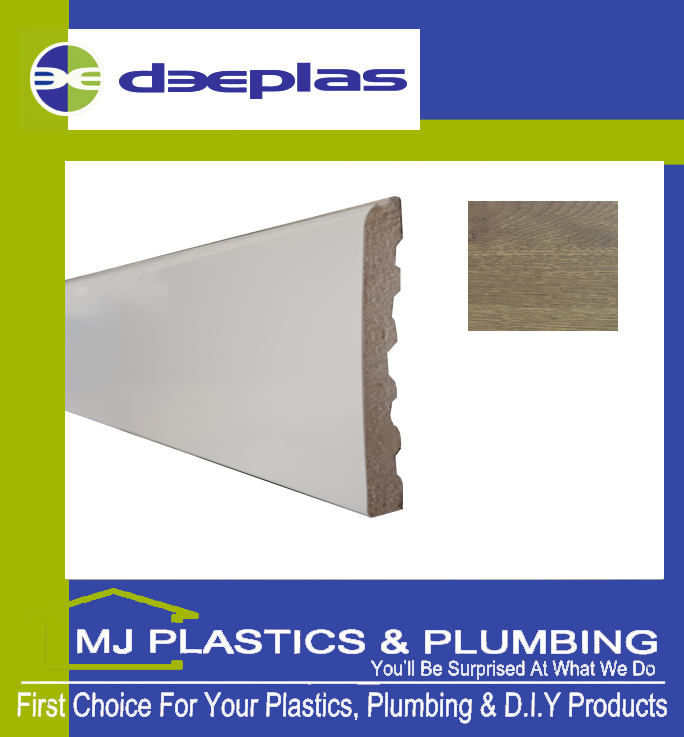 Deeplas Castellated Architrave 90mm x 6mm - Golden Oak 1110