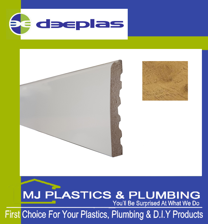 Deeplas Castellated Architrave 90mm x 6mm - Irish Oak 1123
