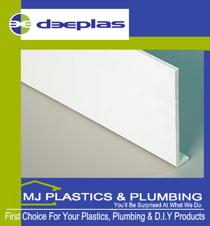 DEEPLAS 150MM CAPPING BOARD SQUARE EDGE DEEPLAS WHITE