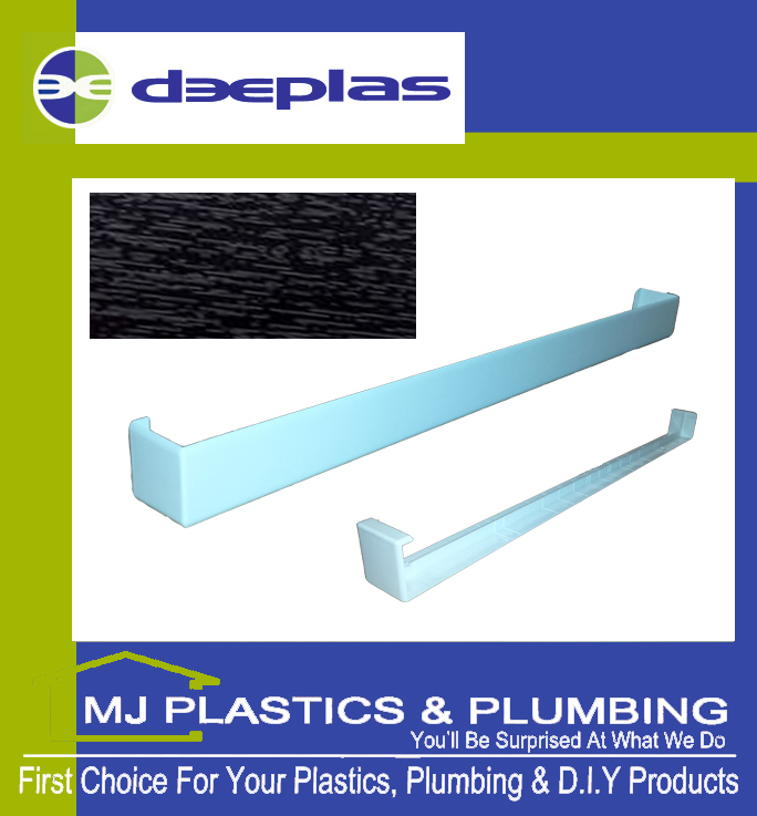 FASCIA JOINT DOUBLE ENDED SQUARE EDGE 500MM BLACK ASH