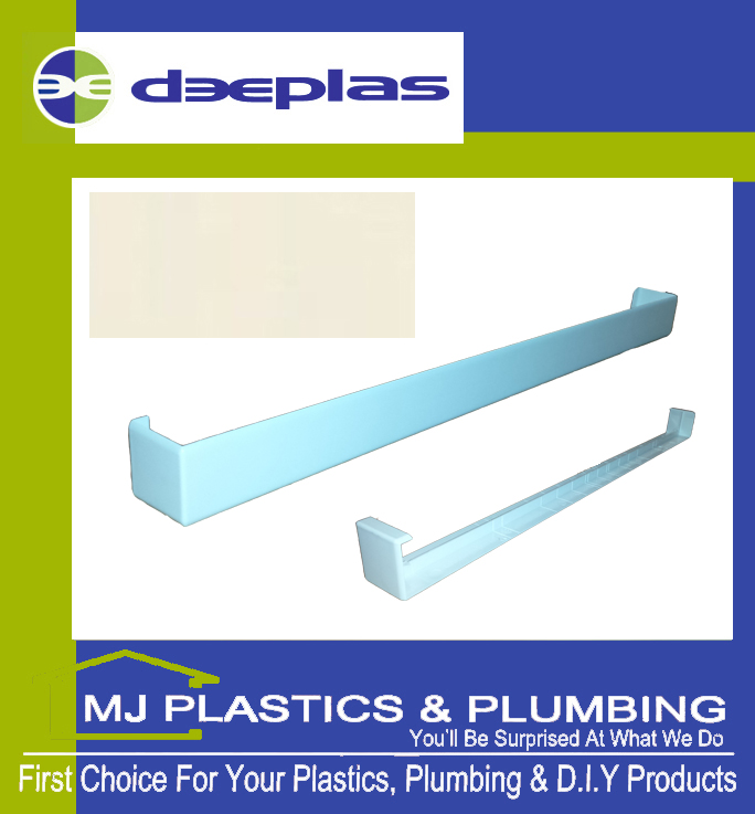 FASCIA JOINT DOUBLE ENDED SQUARE EDGE 500MM CREAM