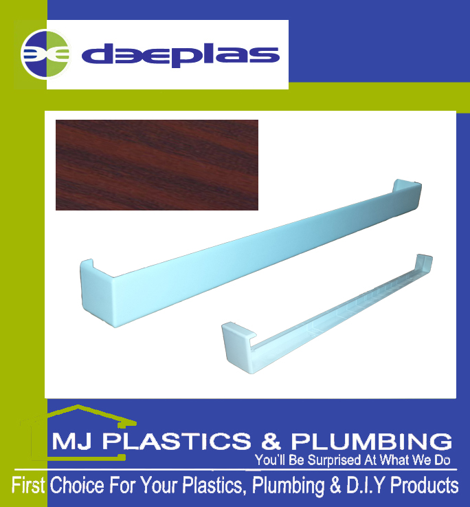 FASCIA JOINT DOUBLE ENDED SQAURE EDGE 500MM MAHOGANY