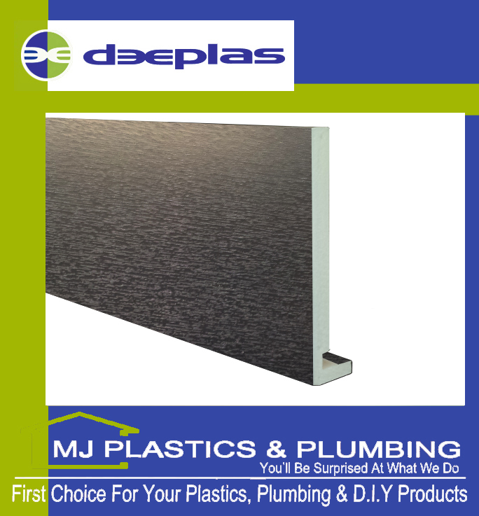 Deeplas 200 X 16mm Square Edge Maxi Fascia Board - Anthracite Grey