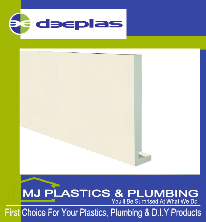 Deeplas 300 X 16mm Square Edge Maxi Fascia Board - Cream