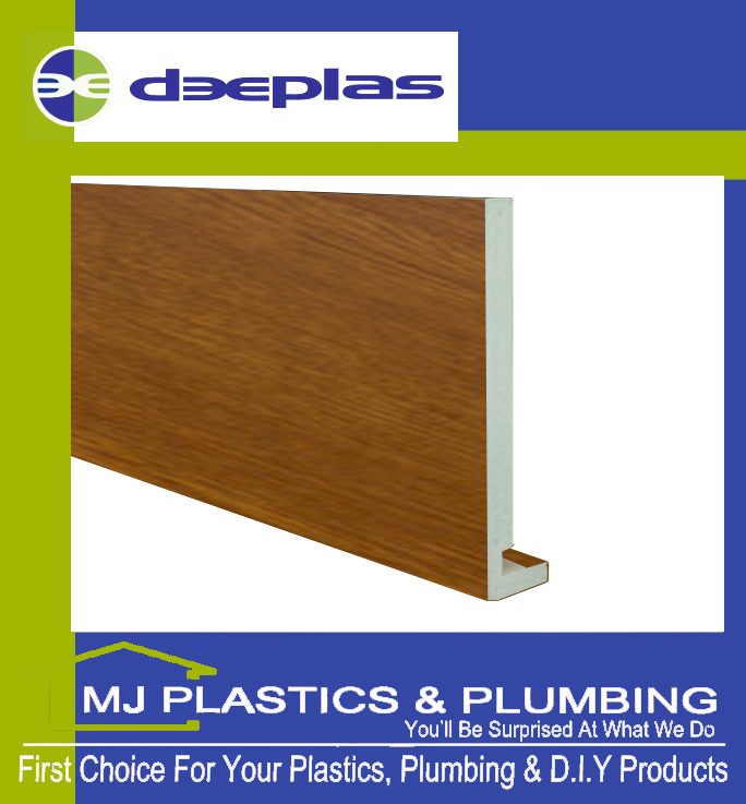 Deeplas 300 X 16mm Square Edge Maxi Fascia Board - Golden Oak