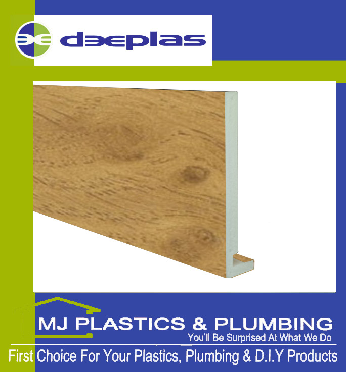 Deeplas 175 X 16mm Square Edge Maxi Fascia Board - Irish Oak