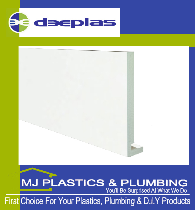 Deeplas 300 X 16mm Square Edge Maxi Fascia Board - Deeplas White