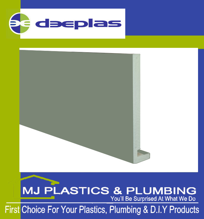 Deeplas 300 X 16mm Square Edge Maxi Fascia Board - Chartwell Green