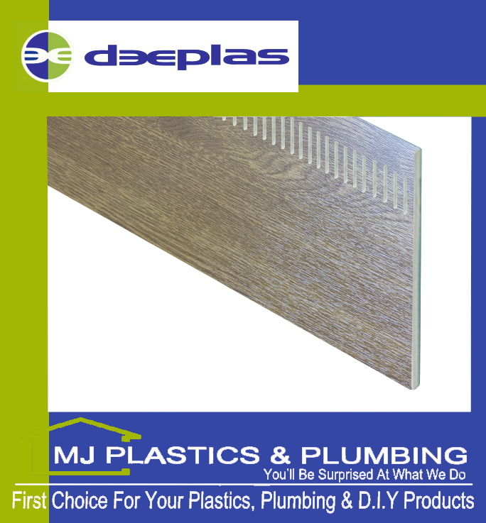 DEEPLAS 150MM VENTED FLAT PLANK UNIBOARD GOLDEN OAK