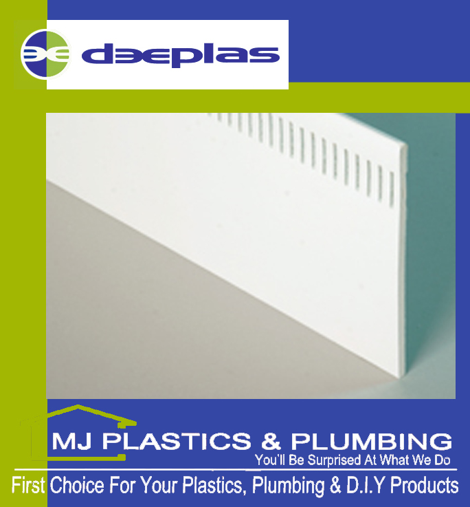 DEEPLAS 300MM VENTED SOFFIT BOARD DEEPLAS WHITE 0003