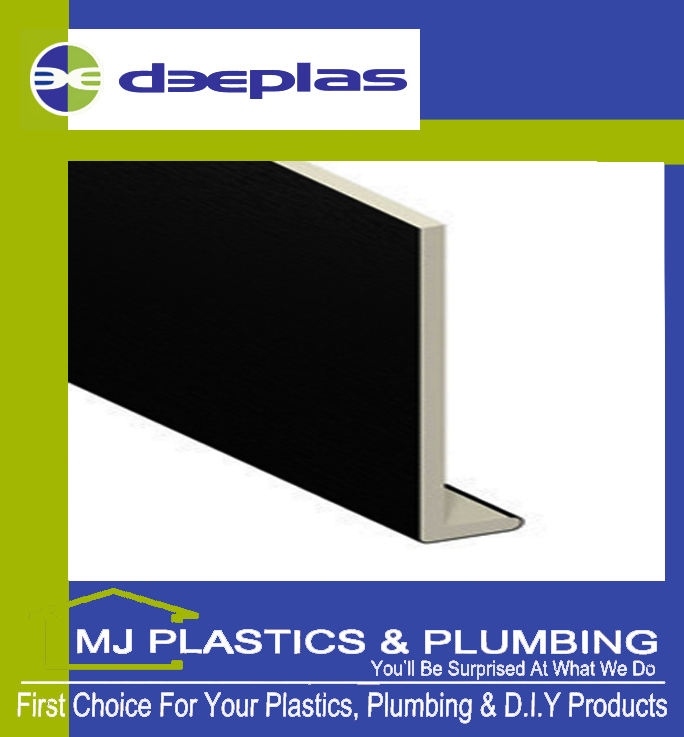 150MM SQUARE EDGE CAPPING BOARD BLACK ASH