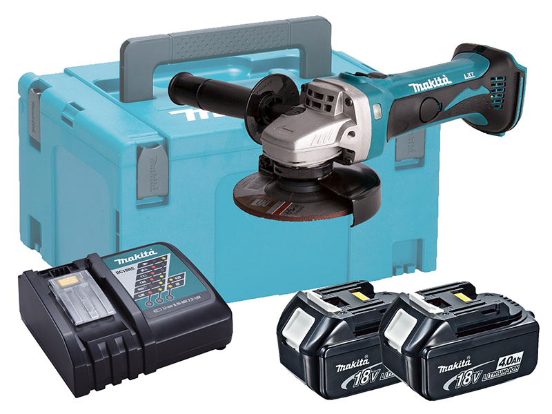 Makita DGA452 18V Brushed 115mm Anlge Grinder LXT - 4.0ah Pack