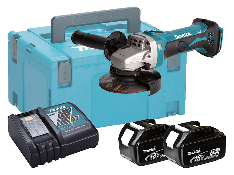 Makita DGA452 18V Brushed 115mm Anlge Grinder LXT - 3.0ah Pack