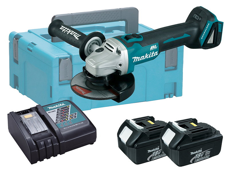 Makita DGA513 18V Brushless 125mm Angle Grinder LXT - 3.0ah Pack