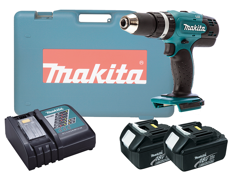 Makita DHP453 18V Brushed Combi Drill LXT - 3.0ah Pack