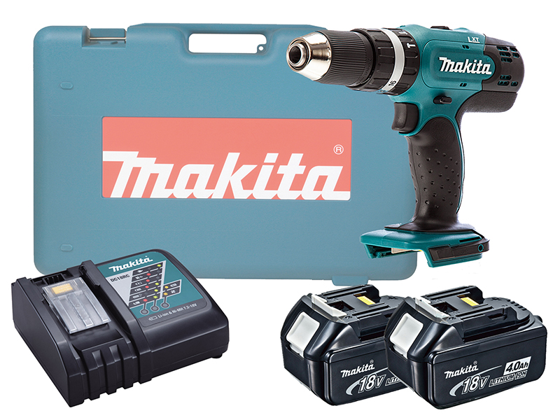Makita DHP453 18V Brushed Combi Drill LXT - 4.0ah Pack