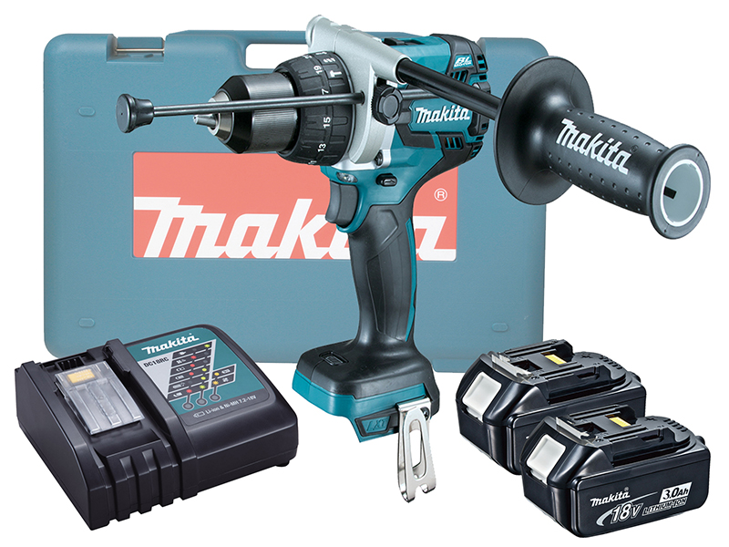 Makita DHP481Z 18V Brushless Combi Drill LXT Variable Speed by Trigger - 3.0ah Pack