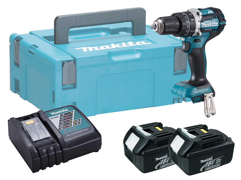 Makita DHP484 18V Brushless Combi Hammer Driver Drill - 3.0ah Pack