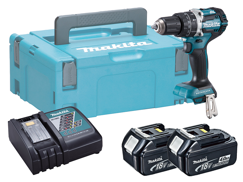 Makita DHP484 18V Brushless Combi Hammer Driver Drill - 4.0ah Pack