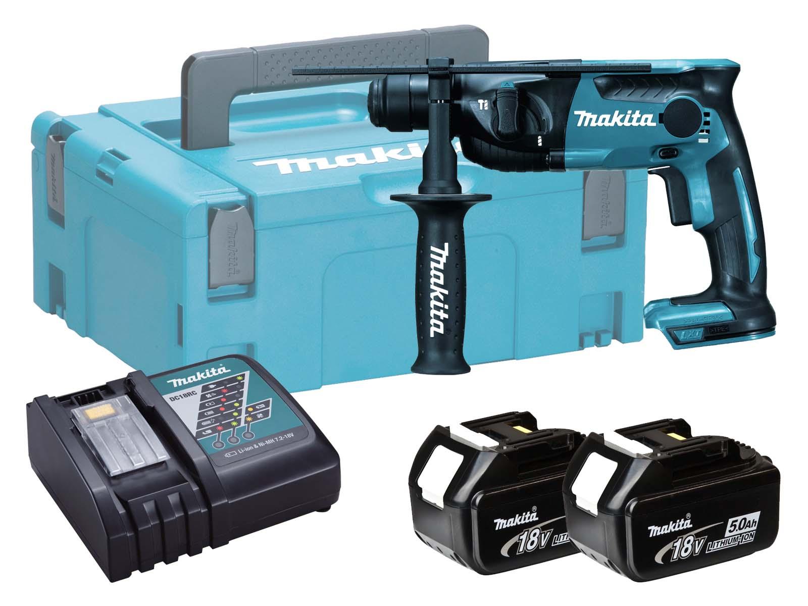 Makita 18V Brushed 2-Mode SDS Hammer Drill - DHR165 - 5.0Ah Pack