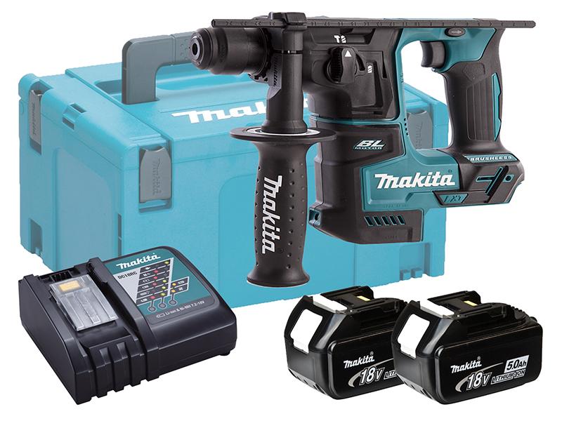 Makita 18V Brushless Rotary Hammer Drill 17mm - DHR171 - 5.0Ah Pack