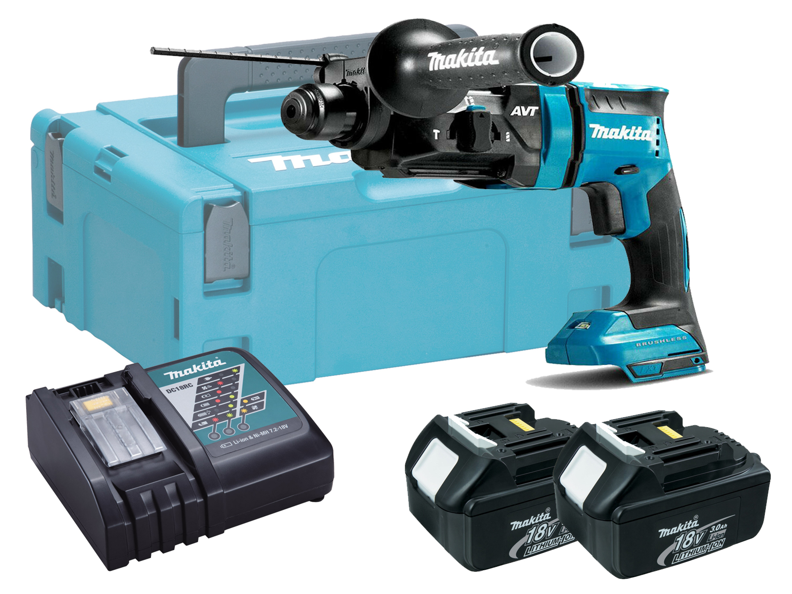 MAKITA 18V BRUSHLESS 3-MODE SDS+ HAMMER DRILL - DHR182 - 3.0AH PACK