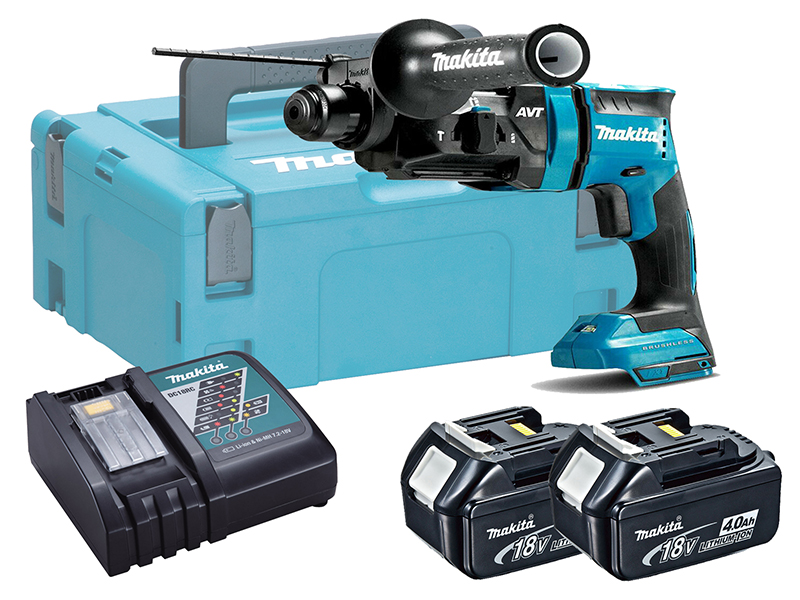 MAKITA 18V BRUSHLESS 3-MODE SDS+ HAMMER DRILL - DHR182 - 4.0AH PACK