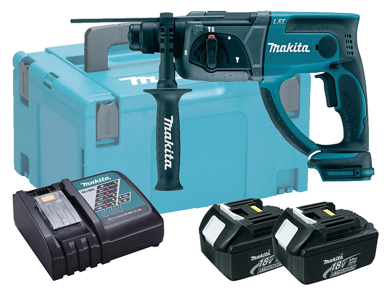 Makita 18V Brushed 3-Mode SDS Hammer Drill - DHR202 - 3.0Ah Pack
