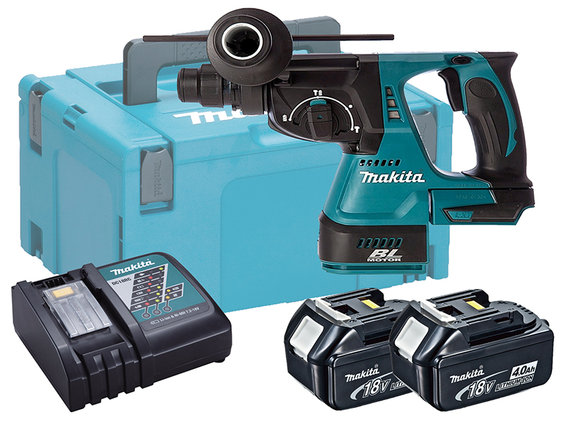 MAKITA 18V BRUSHLESS 3-MODE SDS+ HAMMER DRILL - DHR242 - 4.0AH PACK