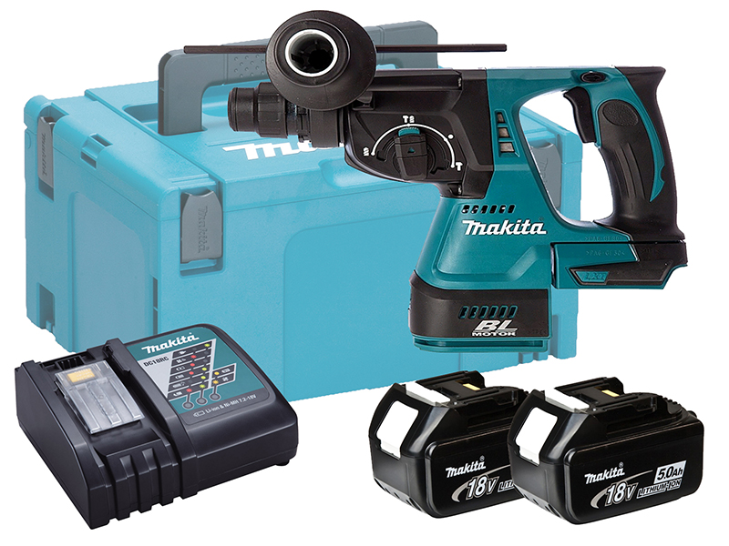 MAKITA 18V BRUSHLESS 3-MODE SDS+ HAMMER DRILL - DHR242 - 5.0AH PACK