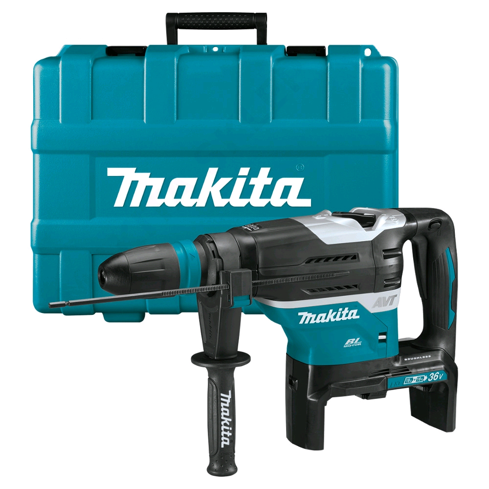 MAKITA 18V TWIN BRUSHLESS SDS MAX HAMMER - AWS - DHR400ZKU - BODY ONLY & CASE