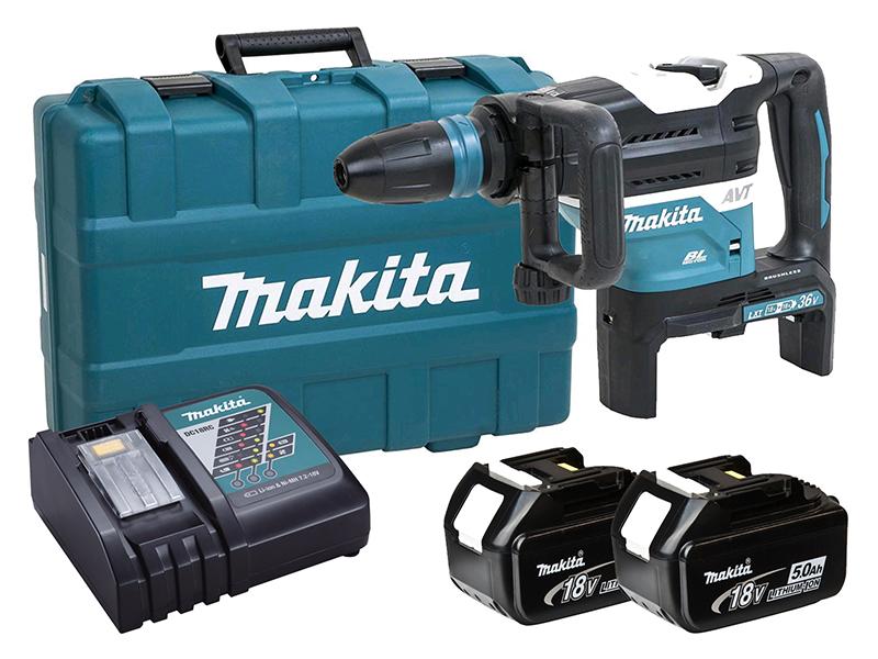 Makita 18V Twin Brushless SDS Max Hammer - AWS - DHR400ZKU - 5.0Ah Pack