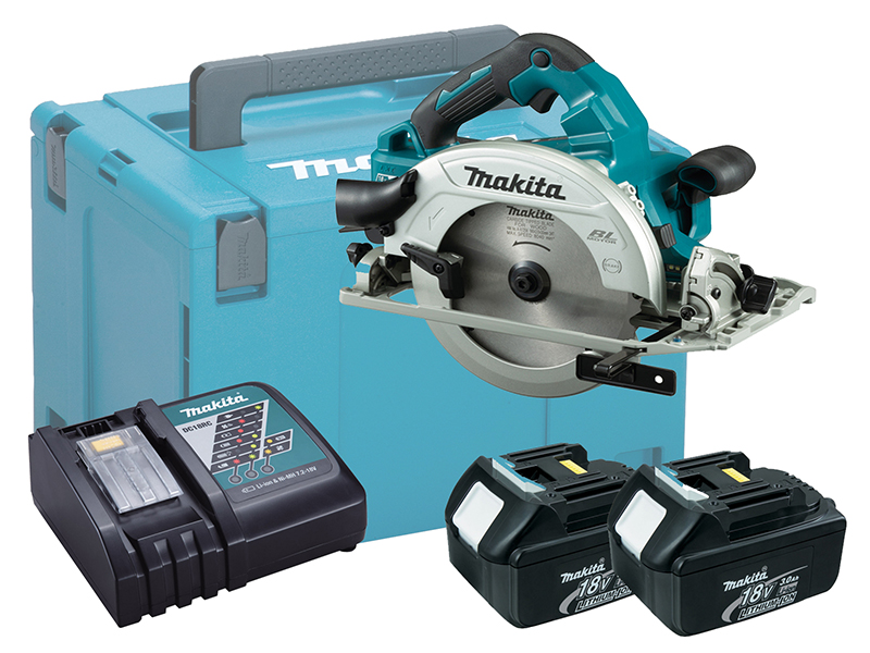 Makita DHS782 36V (Twin 18V) LXT 190mm Brushless Circular Saw - 3.0Ah Pack