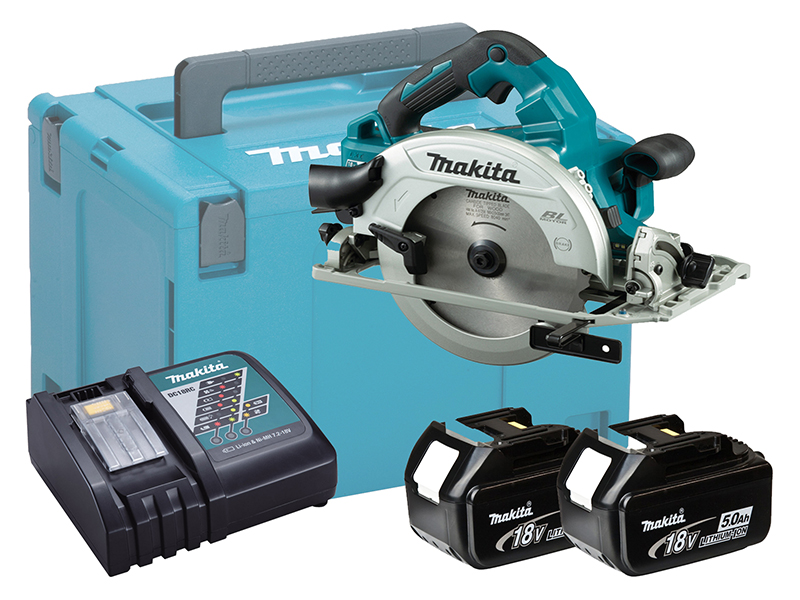 Makita DHS782 36V (Twin 18V) LXT 190mm Brushless Circular Saw - 5.0ah Pack