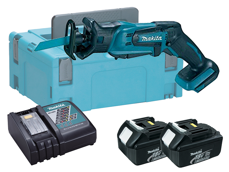Makita DJR183 18V LXT Mini Brushed Reciprocating Saw - 3.0ah Pack