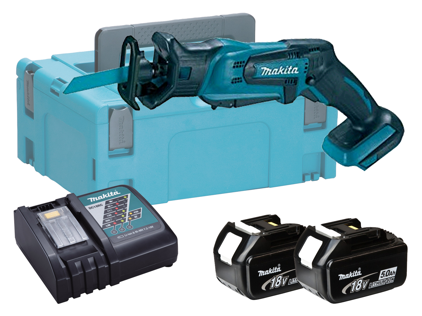 Makita DJR183 18V LXT Mini Brushed Reciprocating Saw - 5.0ah Pack