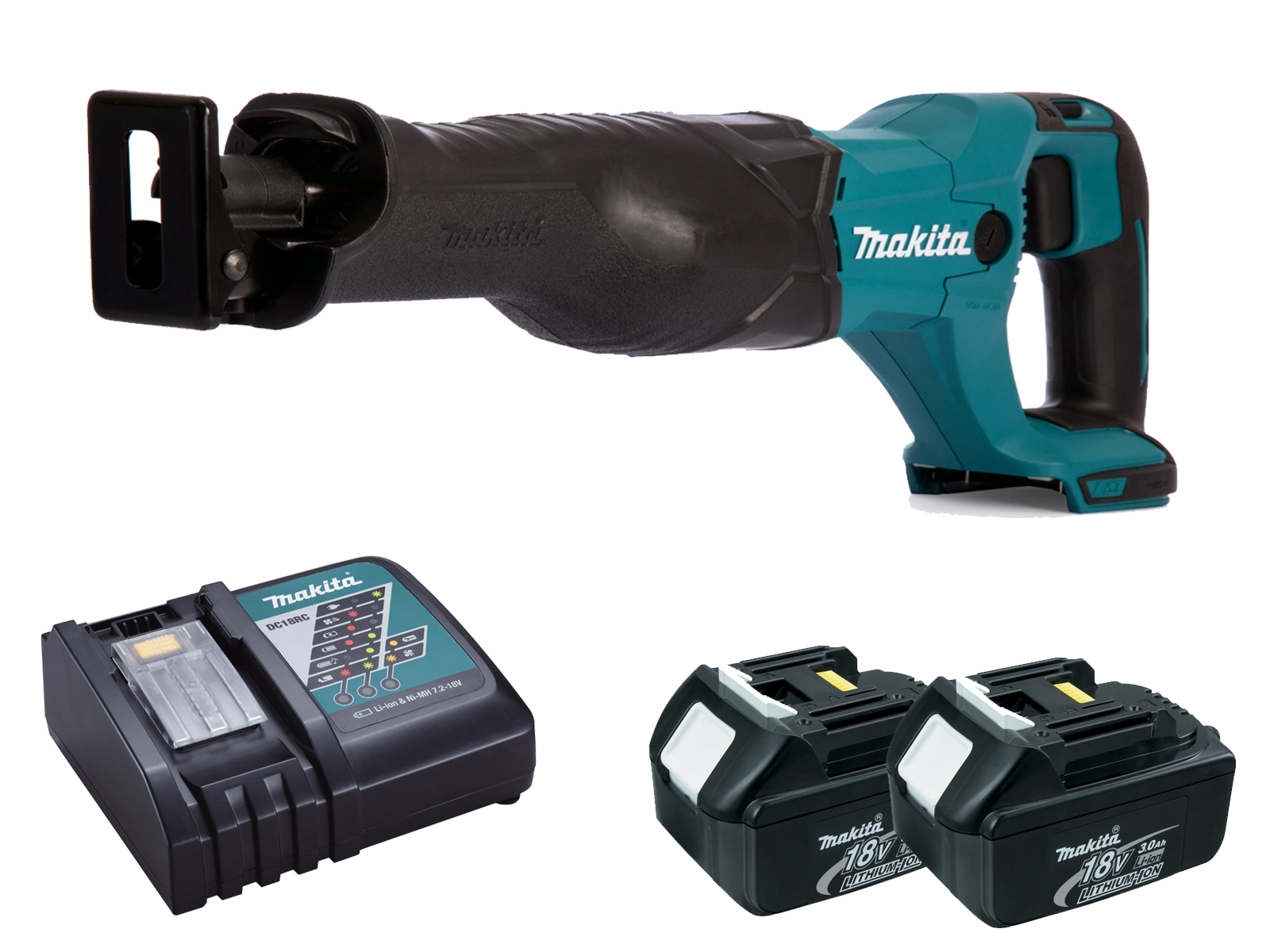Makita DJR186 18V Brushed Reciprocating Saw LXT - 3.0ah Pack