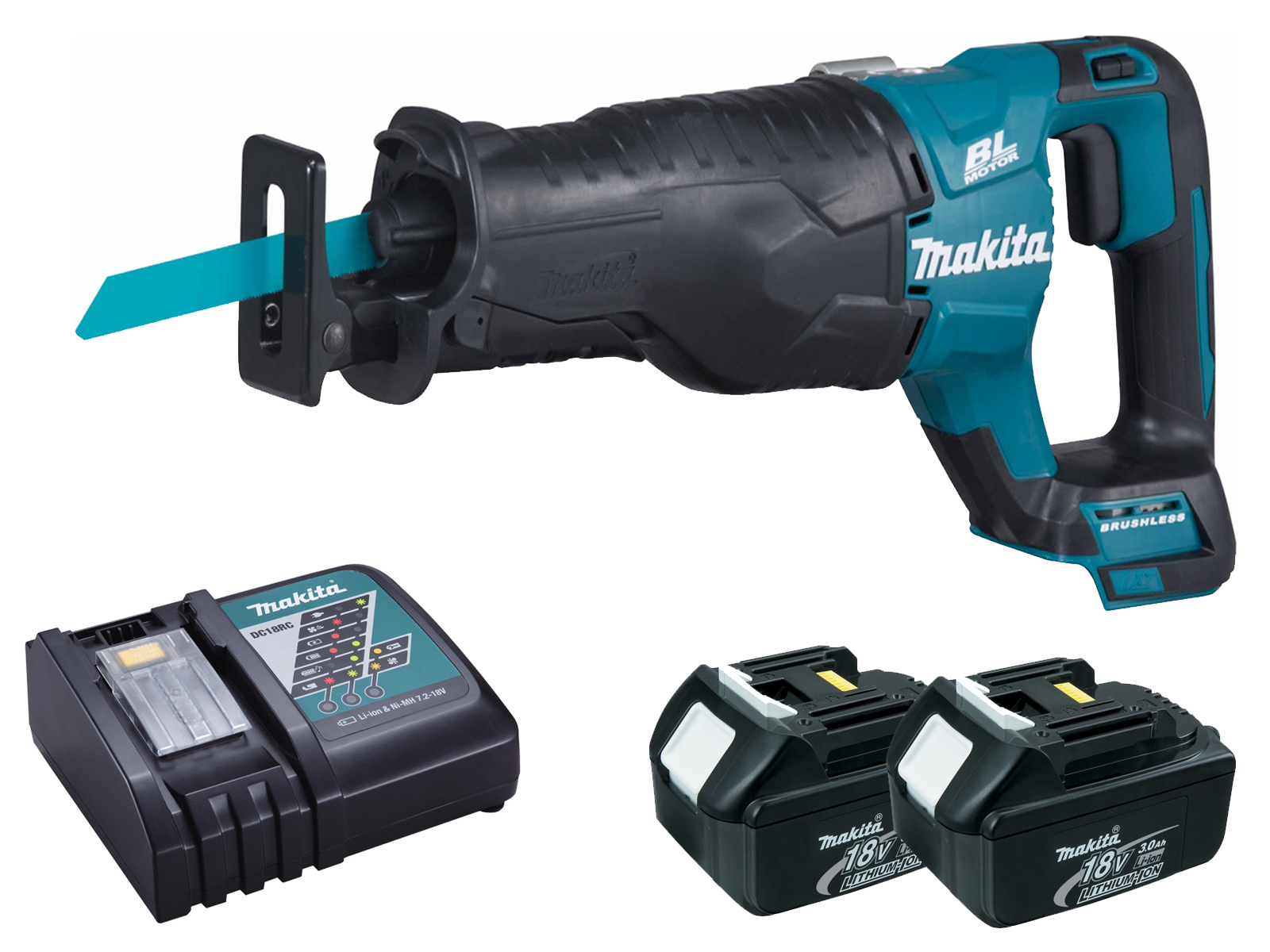 Makita DJR187 18V LXT Brushless Reciprocating Saw - 3.0ah Pack