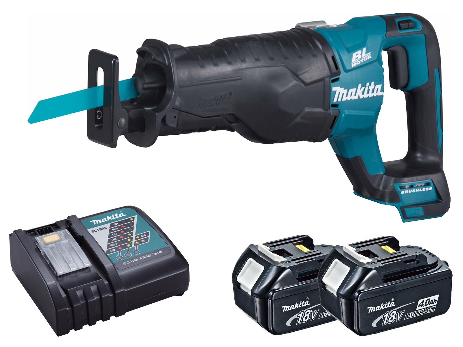 Makita DJR187 18V LXT Brushless Reciprocating Saw - 4.0ah Pack