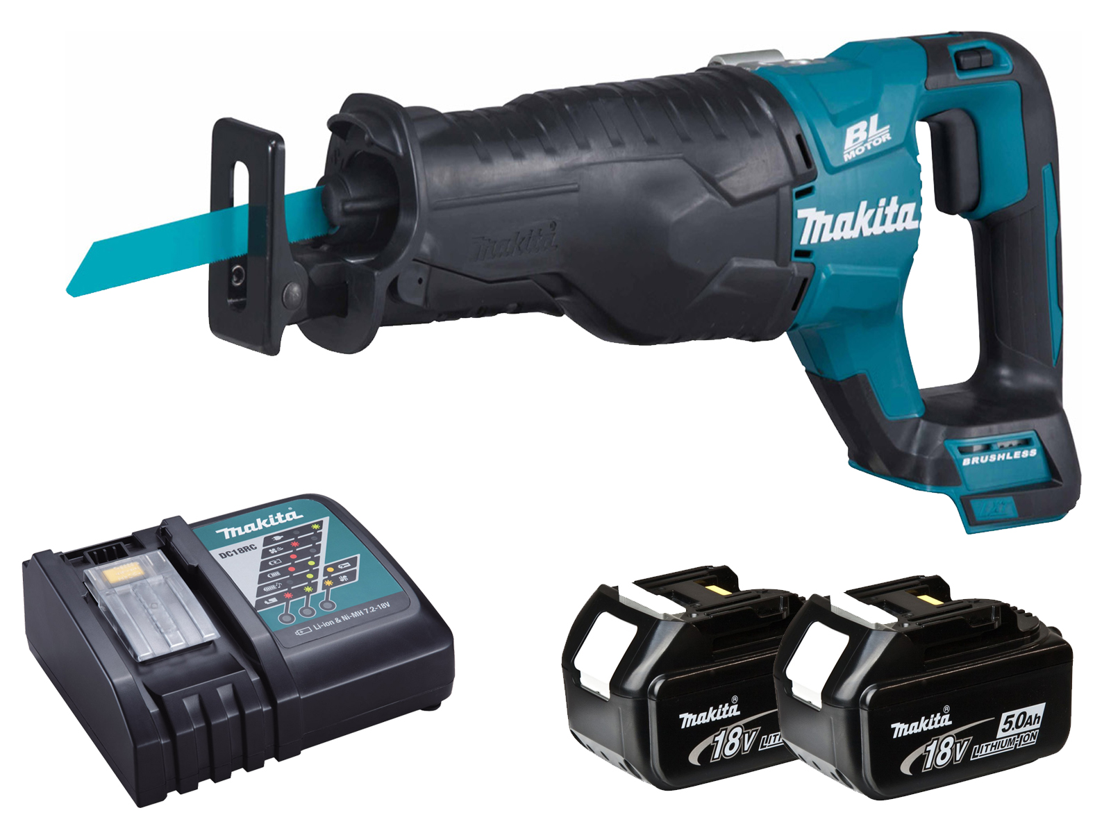 Makita DJR187 18V LXT Brushless Reciprocating Saw - 5.0ah Pack