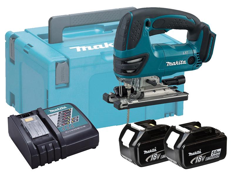 Makita DJV180 18V Brushed LXT Jigsaw Top Handle - 5.0Ah Pack