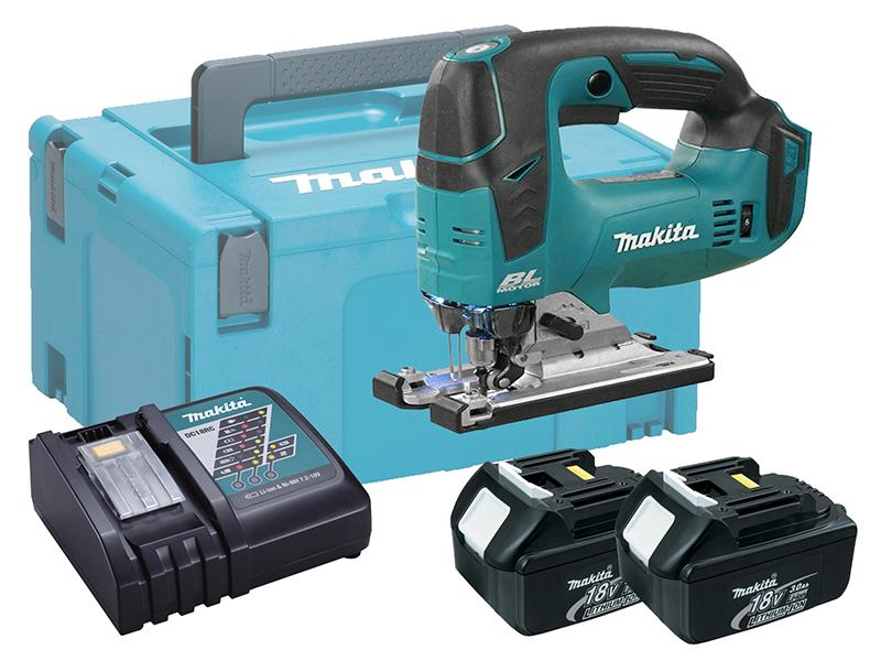 Makita DJV182 18V Cordless Brushless Jigsaw Top Handle - 3.0Ah Pack