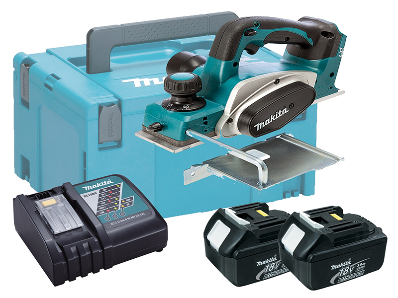 MAKITA 18V BRUSHED PLANER 82MM - DKP180 - 3.0AH PACK