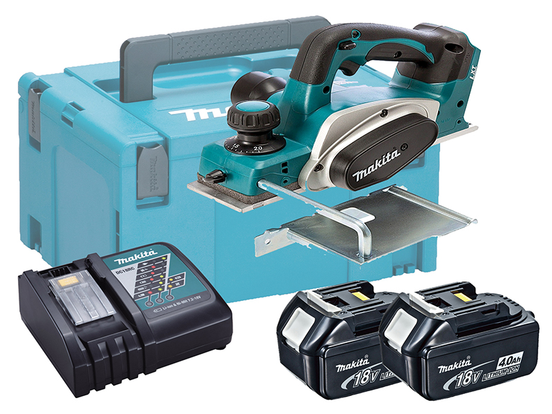 MAKITA 18V BRUSHED PLANER 82MM - DKP180 - 4.0AH PACK
