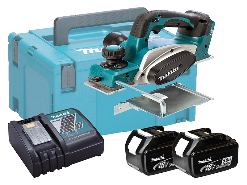 MAKITA 18V BRUSHED PLANER 82MM - DKP180 - 5.0AH PACK