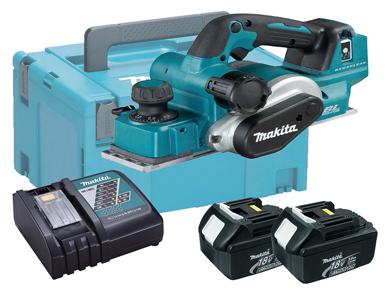 MAKITA 18V BRUSHLESS 82MM PLANER + AWS BLUETOOTH - DKP181ZU - 3.0AH PACK