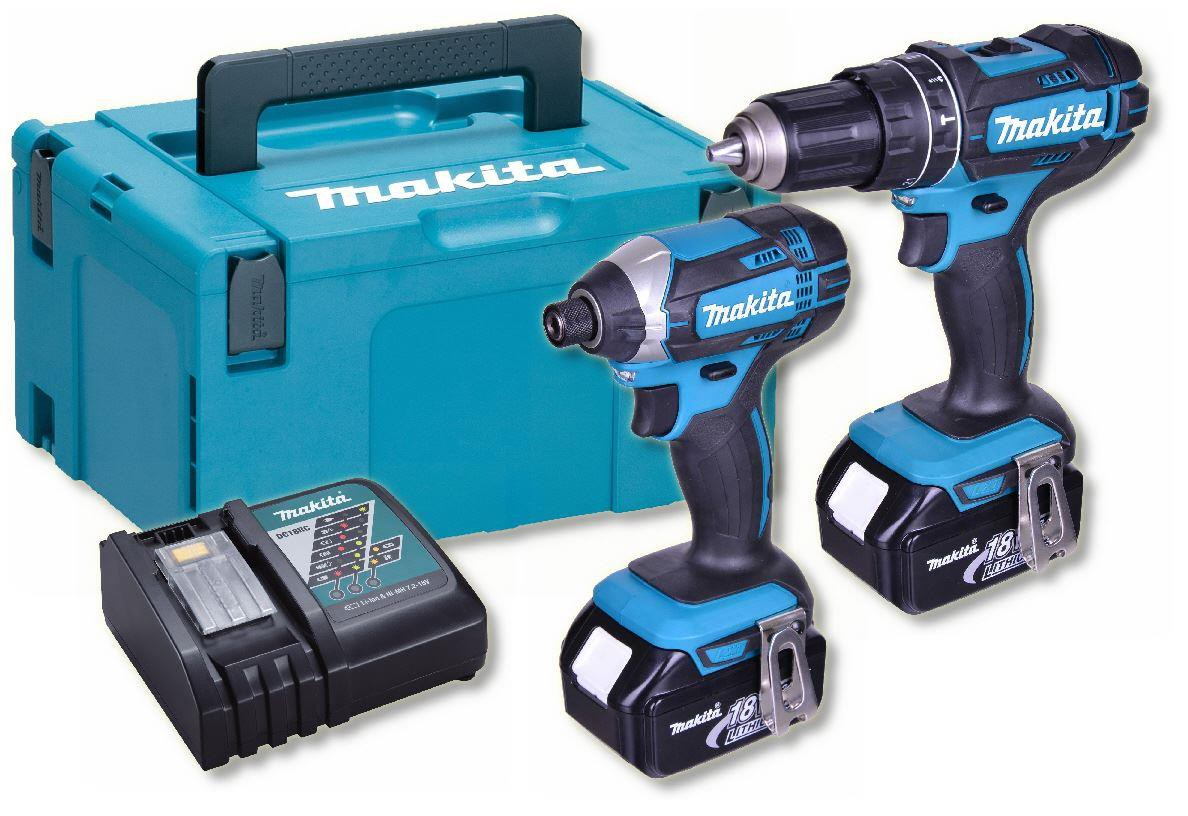 Makita DLX2131TJ 18V Brushed Twin Pack - DHP482 Combi Drill & DTD152 Impact Driver - 5.0Ah Pack