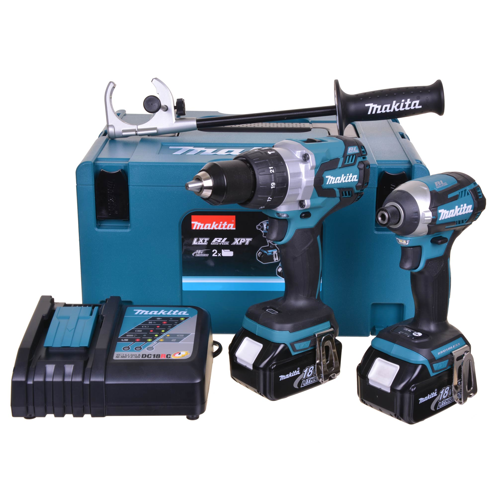 Makita 18V Brushless LXT Heavy-Duty Combi Drill & Impact Driver - 5.0Ah Pack