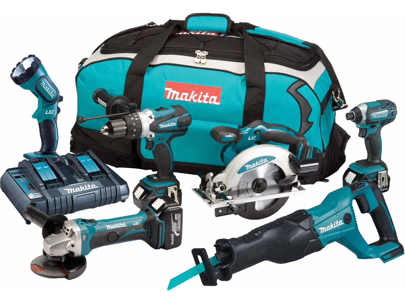 Makita 18V 6pc LXT Kit - Combi / Impact & More - DLX6072PT - 5.0ah Pack